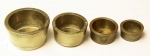 19th Century Nested Brass Cup Shape Troy Weights.