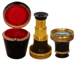 Early 19th Century Adams  Gilt Brass Monocular