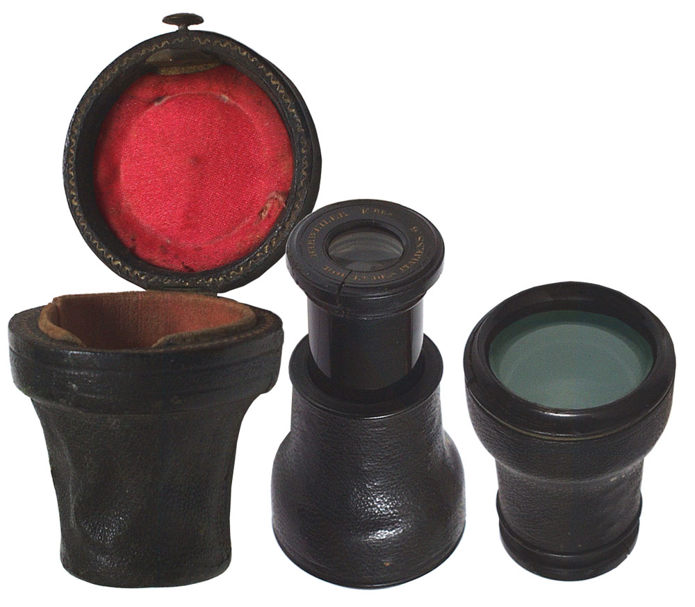 Mini-Monocular French 19th Century Leather-Covered - click to enlarge.