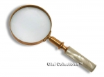 19th Century Magnifying Glass With Mother of Pearl Handle