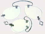 Rimless Folding Pince-Nez Spectacles with Pear Shaped Lenses