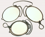 18th Century Molded Iron Folding Pince-Nez Spectacles