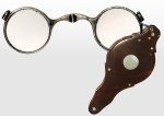 Silver and Tortoise-Shell Hinged Lorgnette Eyeglasses 19th...