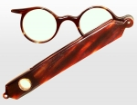 Imitation Tortoiseshell Lorgnette with Magnifying Glass
