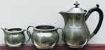 Pewter Tea-set, English made by the 'Baronial Pewter'...