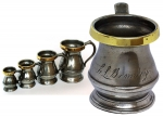 Antique Set of English Pewter Measures