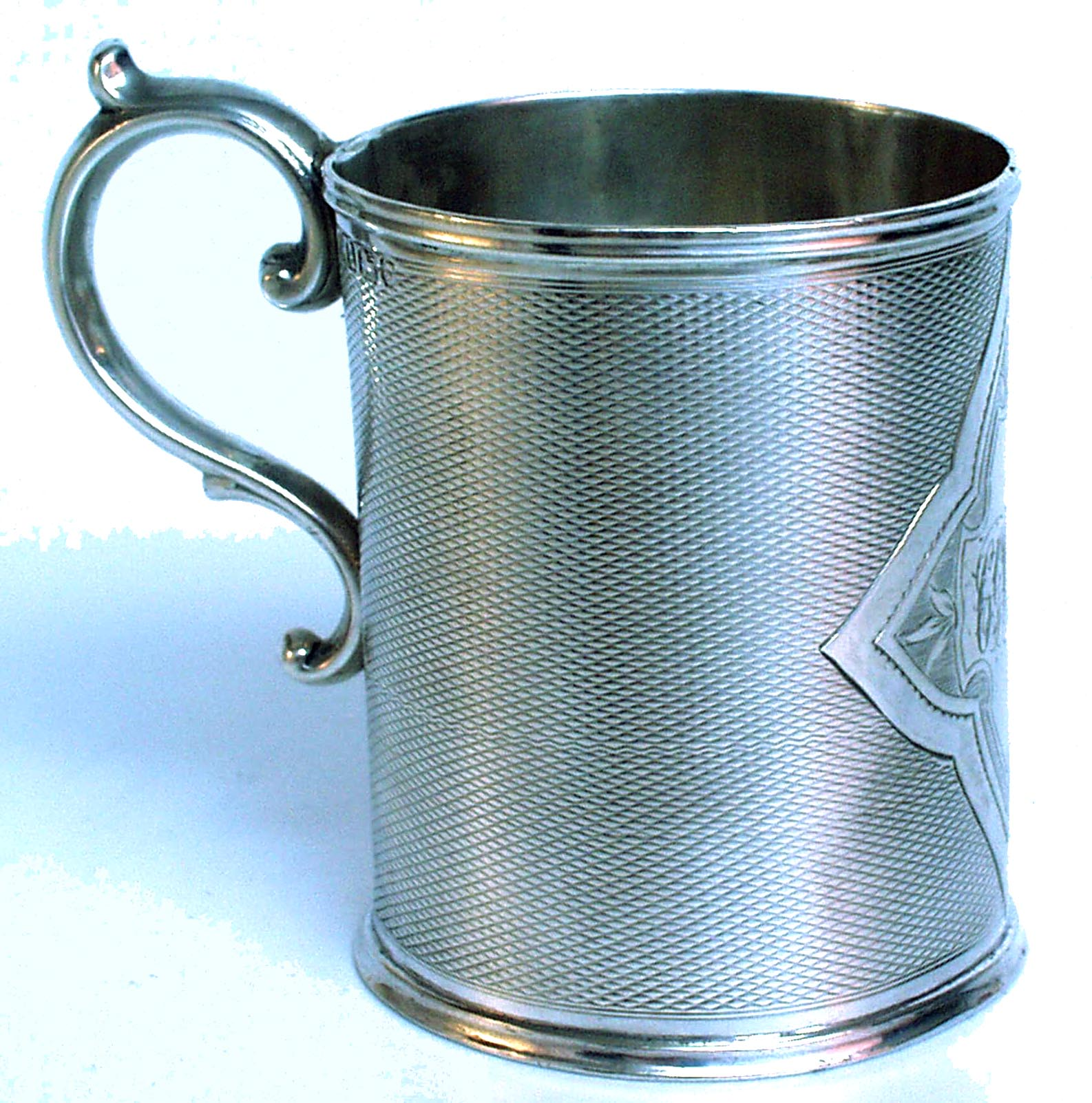 Victorian Silver Christening Mug 1844 - click to enlarge.