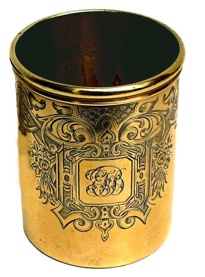 Gllded Silver Beaker 1848  Victorian - click to enlarge.