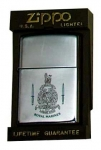 Zippo Lighter with English Royal Marines Insignia