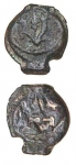 Prutah coin of Mattathias Antigonus 37-40 BCE.
