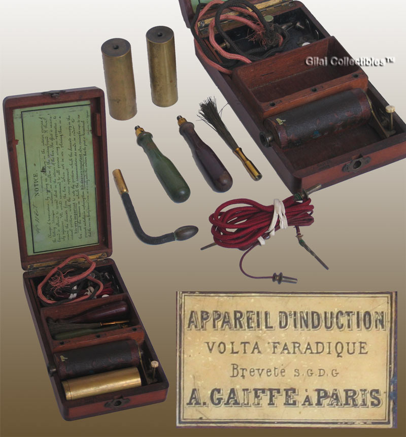 Quack Electrotherapy Shock Machine by A.Gaiffe A Paris 19th Century - click to enlarge.