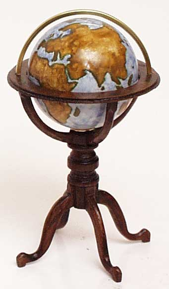 Miniature Terrestrial Globe - click to enlarge.